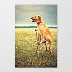 DogOnChair Canvas Print
