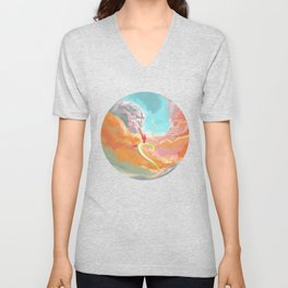 Fantasy Dragon and Clouds Unisex V-Neck