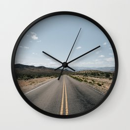 Open Road - Moapa Valley, NV Wall Clock