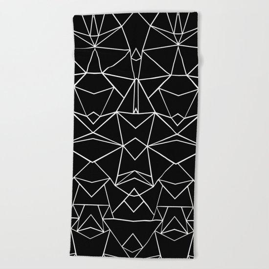 Ab Mirror Black Beach Towel