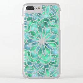 Mandala Southwest Succulent Clear iPhone Case