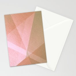 Sun Light - Soft Geometric Abstract Drawing Stationery Cards