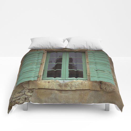 green window shutters Comforters