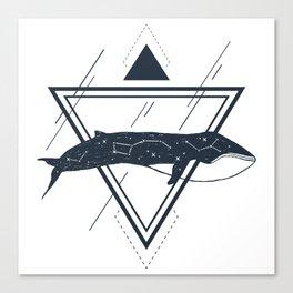 Cosmic Whale. Geometric Style Canvas Print