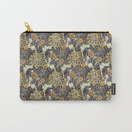 William Morris Variation Periwinkle Blue and Marigold Colors Carry-All Pouch