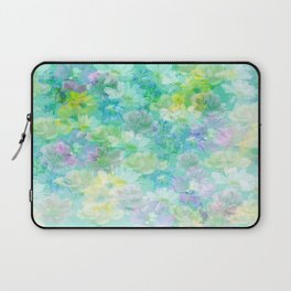 Enchanted Spring Floral Abstract Laptop Sleeve