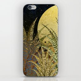 """Golden aloe Zebra midnight sun"" iPhone Skin"