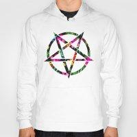pentagram Hoodies featuring Pentagram by YEAH RAD STOKED