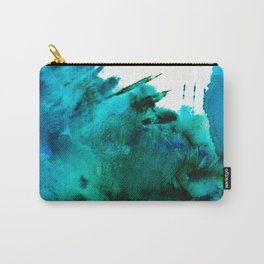 Crashing Waves: a vibrant minimal abstract design in blue, green, and white by Alyssa Hamilton Art  Carry-All Pouch