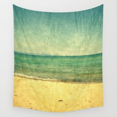 Seascape Vertical Abstract Wall Tapestry