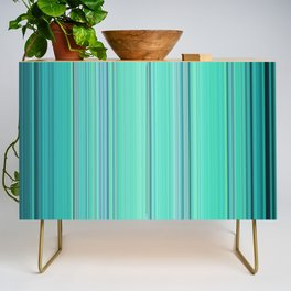 Abstract mixed stripes Green1 Credenza