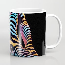 1813s-AK Zebra Striped Woman Hand on Pubis Rendered Composition Style by Chris Maher Coffee Mug