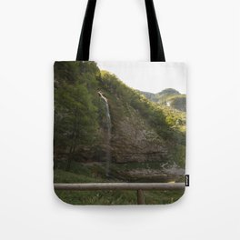 A small waterfall in the mountains #2 Tote Bag