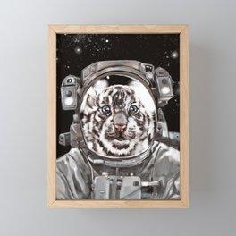 Astronaut White Tiger Selfie Framed Mini Art Print
