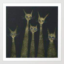 Bristol Whimsical Cats Art Print