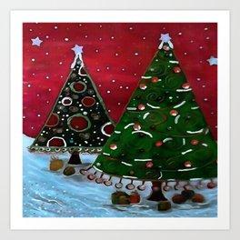 A Childlike View Of Christmas Art Print