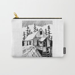 "Log Cabin, ""Wild Horse Mill"" Carry-All Pouch"