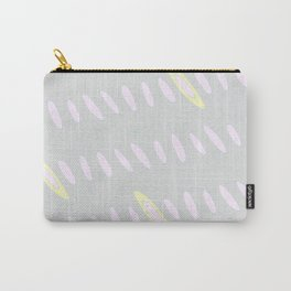 Geo Flow Gray Pink Yellow Carry-All Pouch