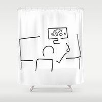 engineer Shower Curtains featuring mechanical engineering engineer by Lineamentum