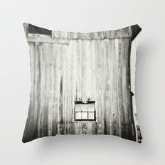 Barn Black & White Throw Pillow