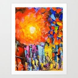 Oil Colours Art Print