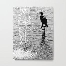 Bird at The Lake Metal Print