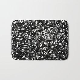 Black and white Galaxy Bath Mat