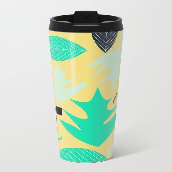 Leaf shapes Metal Travel Mug