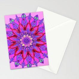 MANDALA OF PURPLE  & PINK ART DESIGN ART Stationery Cards