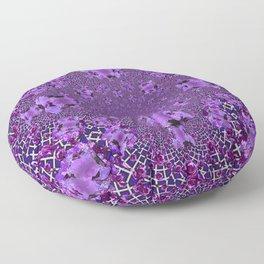 Encrusted Amethyst Purple Gems February Birthstones art Floor Pillow