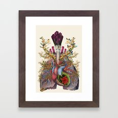 adore anatomical heart lungs collage by bedelgeuse Framed Art Print