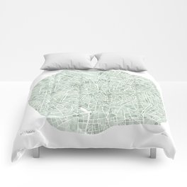 Milan Italy watercolor map Comforters