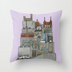 London Rising Throw Pillow