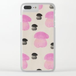 Mushroom pink Clear iPhone Case