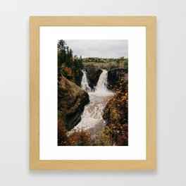 High Falls of the Pigeon River, Minnesota | Nature and Landscape Photography Framed Art Print
