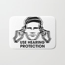 FAC 1 tribute - Factory Records - Use Hearing Protection Bath Mat