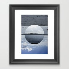 Split Screen Island Framed Art Print