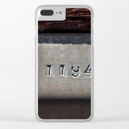 Metal Plate Serial Number Minimalist Photography Clear iPhone Case