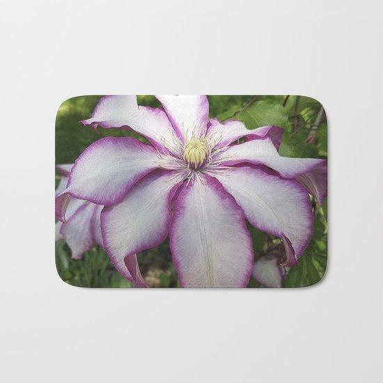 Clematis 'Betty Risdon'- Stunning two-tone flowers Bath Mat