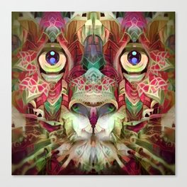 Floral Catnip (Electric Catnip) Canvas Print