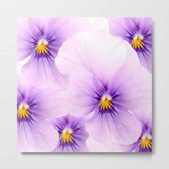 Pansy Patterns Metal Print