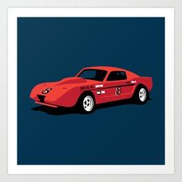 Vintage Hill Climb Race Car Art Print