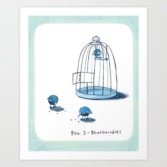 Blueberrdies Art Print