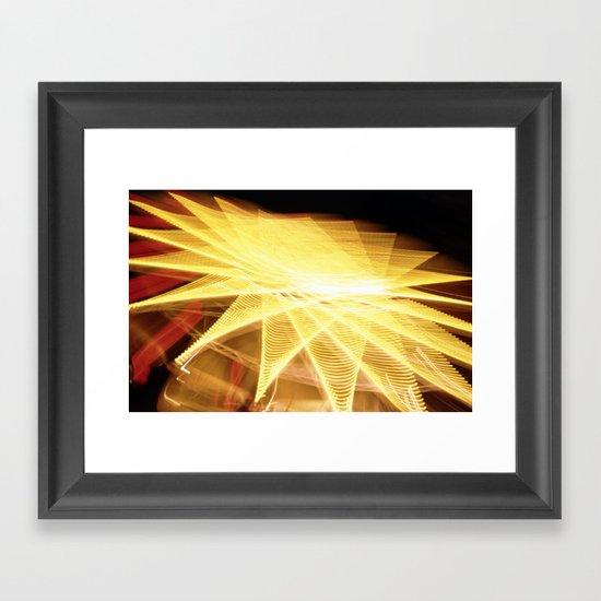 Filament Star Framed Art Print