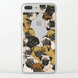 Social Pugs Clear iPhone Case