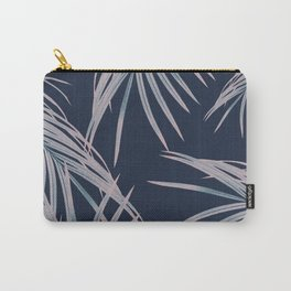 Blush Blue Palm Leaves Dream #1 #tropical #decor #art #society6 Carry-All Pouch