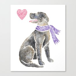 Watercolour Irish Wolfhound Canvas Print