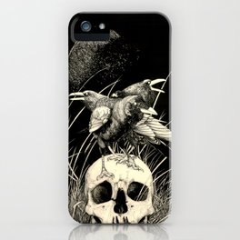 Alas negras, palabras negras ( Black wings, black words) iPhone Case