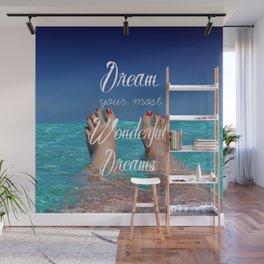 Dream Your Most Wonderful Dreams - Ocean Beach Swim - Boho Style - Corbin Henry Wall Mural