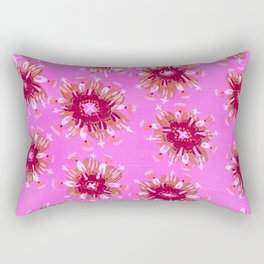 Raspberry Rose Rectangular Pillow